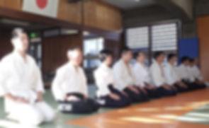 稽古終了時の瞑想@目黒区立中央体育館柔道場(武蔵小山)