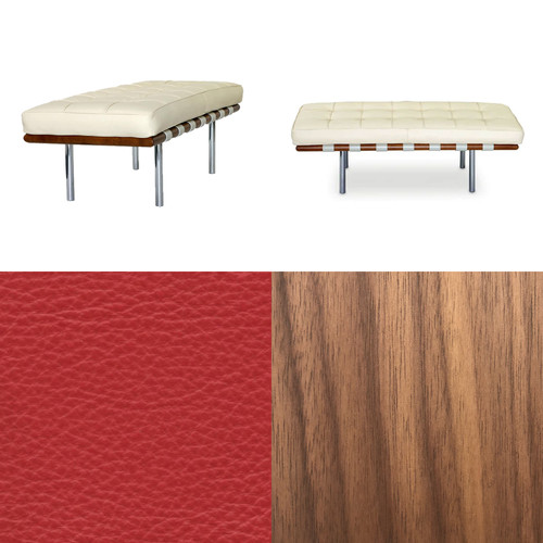 mies van der rohe barcelona bench short. Black Bedroom Furniture Sets. Home Design Ideas