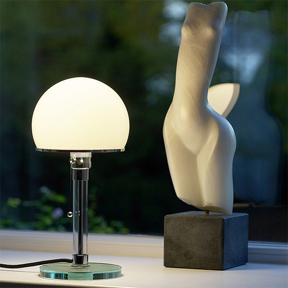 Wagenfeld Lamp 1924 Glass