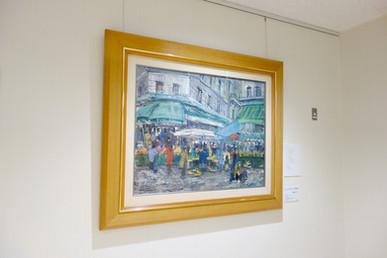 絵画「モンマルトルの朝市」