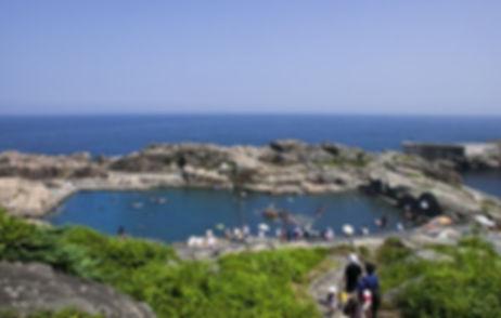 岩場海水プール