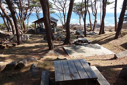 北侍浜野営場