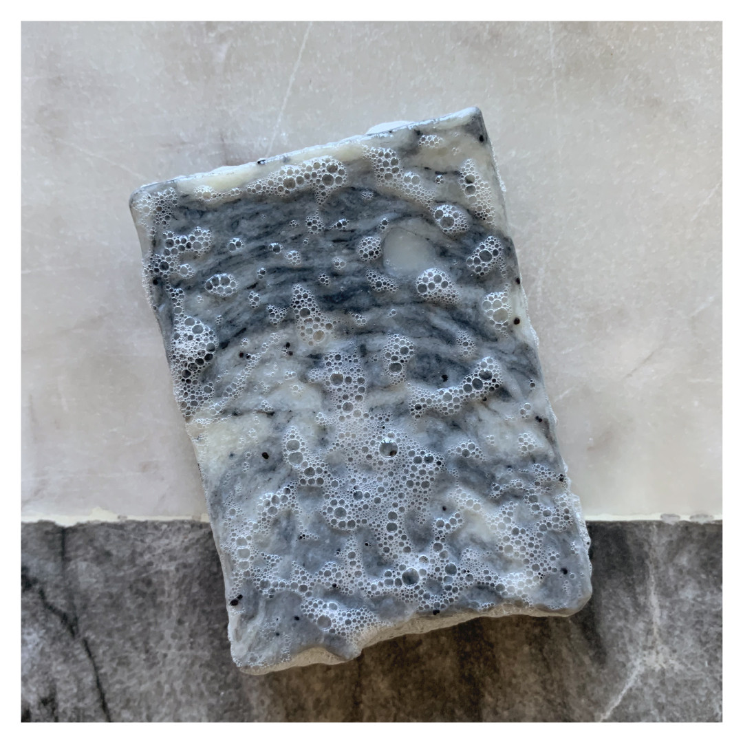 Foamy soap bar