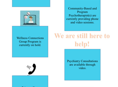 CONNECTIONS COVID-19 PROGRAM UPDATES