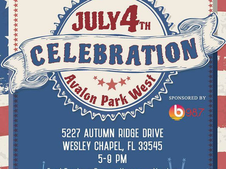 4th of July Celebration at Avalon Park West in Wesley Chapel