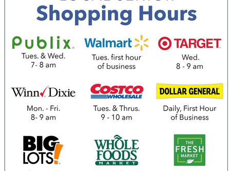 Senior Hours at Local Stores