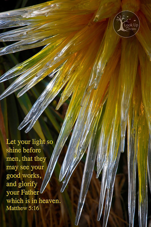 Let Your Light Shine - 8 X 10 Print