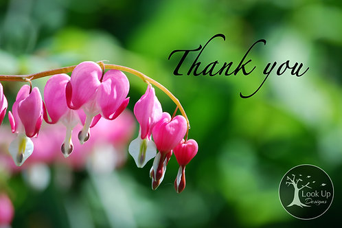 Pack of Thank You Cards- Bleeding Hearts