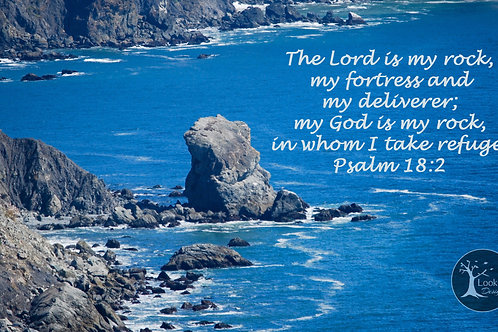 God is my Rock! 8x10 inches print