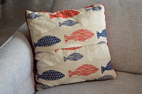 Plaid coud'coeur motif poissons