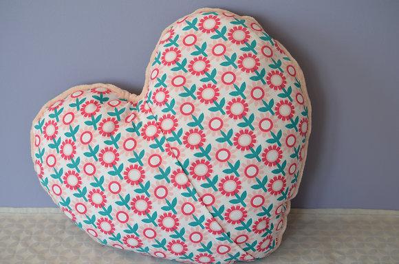 Plaid coud'coeur motif pâquerettes