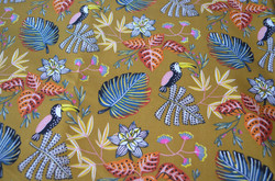 Motif Toucans Jaune moutarde