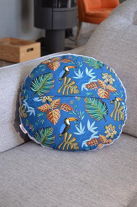 Plaid coud'coeur motif toucans
