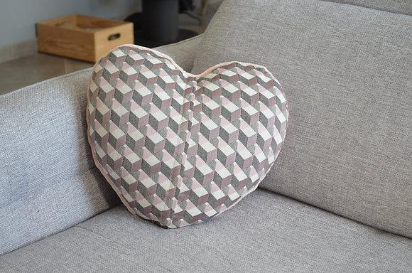 Plaid coud'coeur motif mosaïque