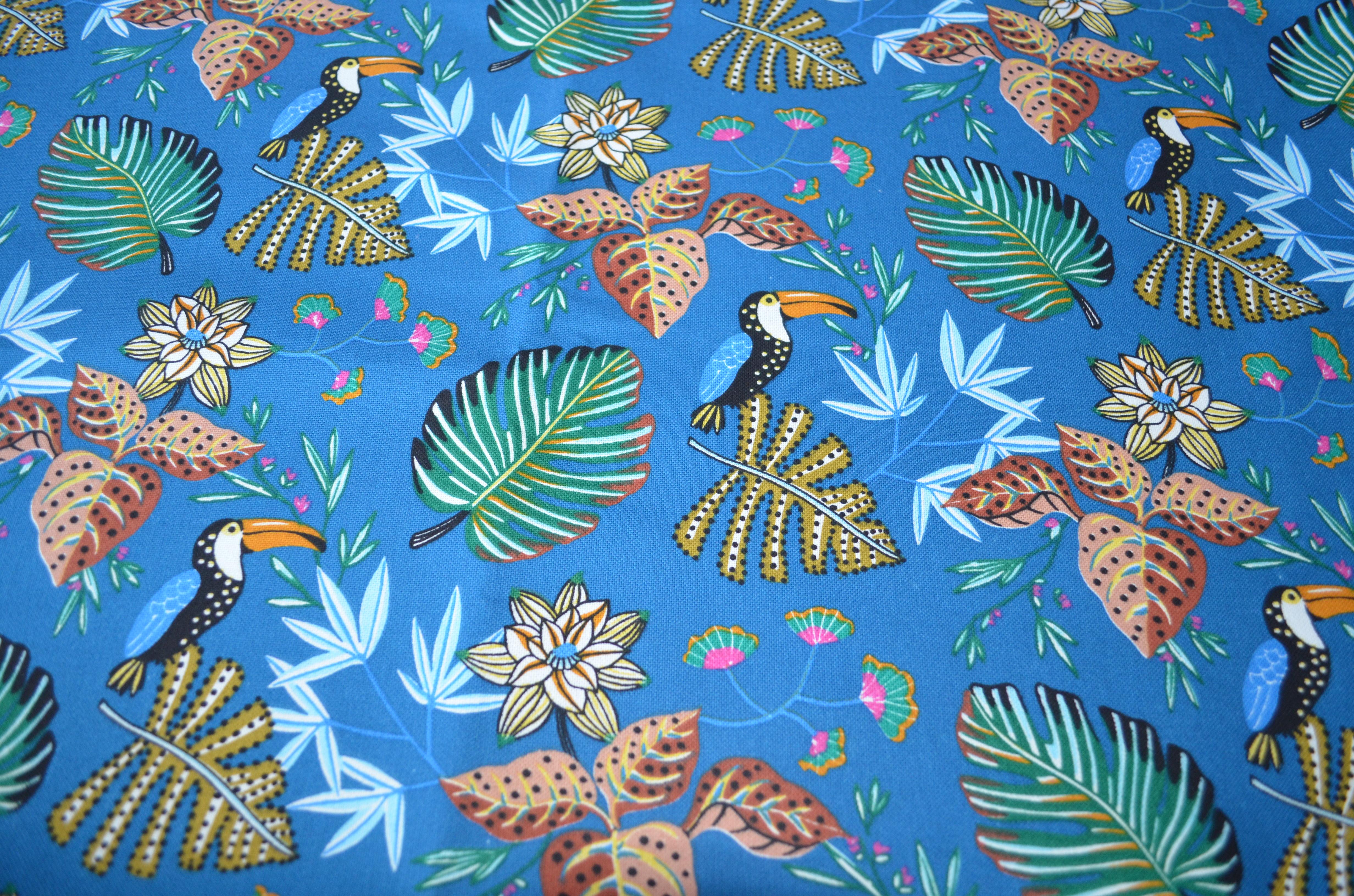 Motif Toucans bleu