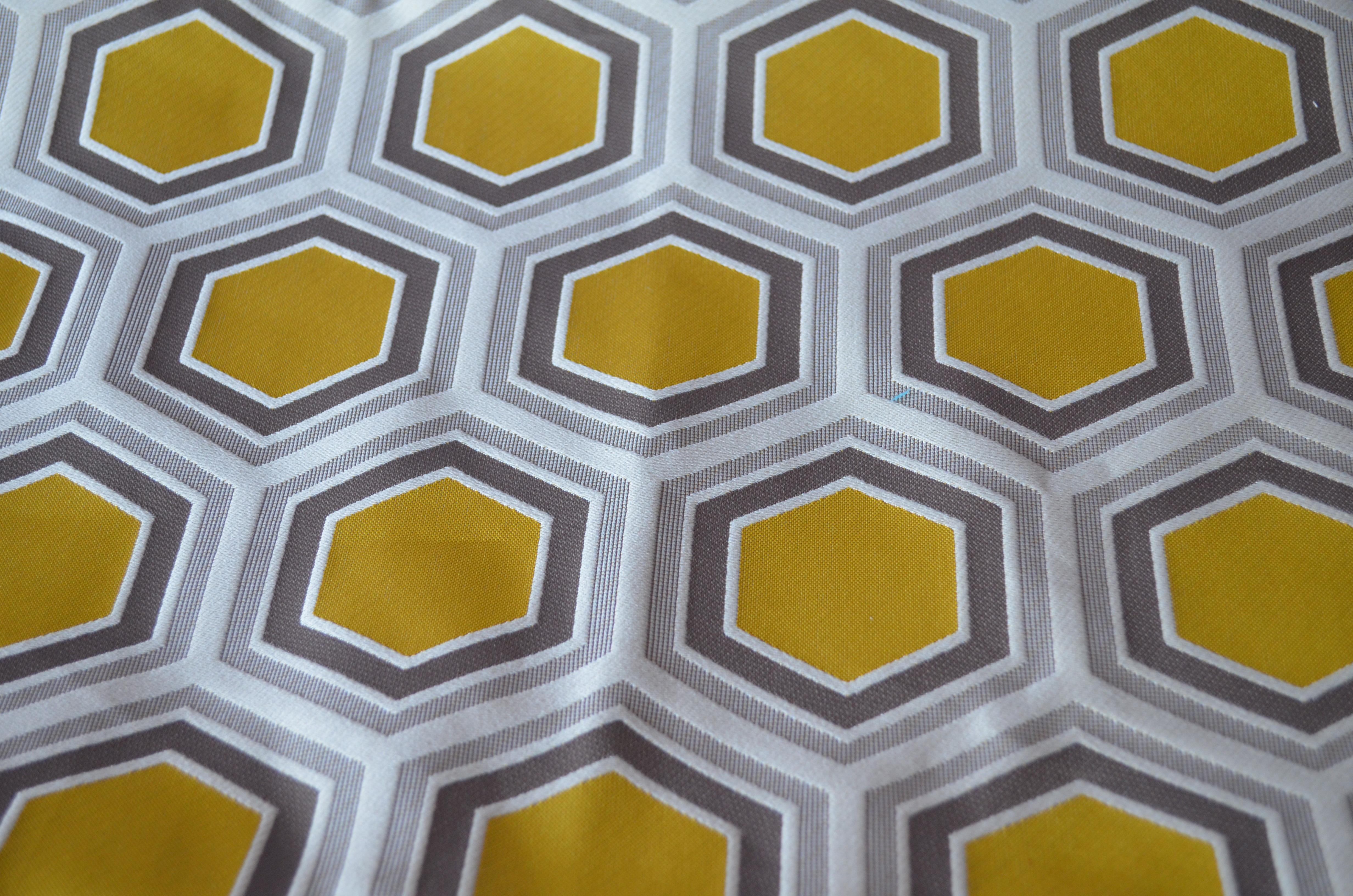 Motif Hexagone jaune