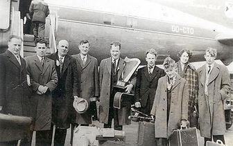 1958 Tulla: Jack Shaughnessy, Michael Preston, Jack Keane, P. Joe Hayes, Dr Bill Loughnane, Seamus Cooley, Tony Loughnane, Carmel Mahoney, Martin Mulhaire