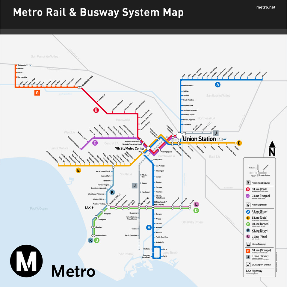 LA Metro System Map Reimagined