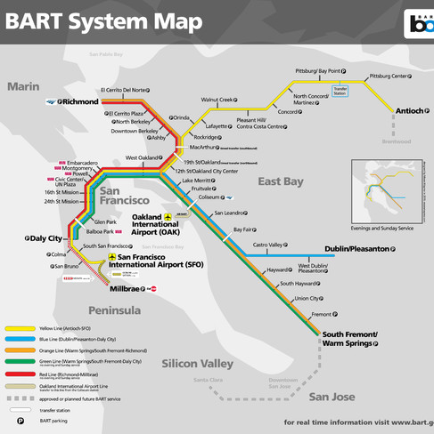BART System Map Reimagined
