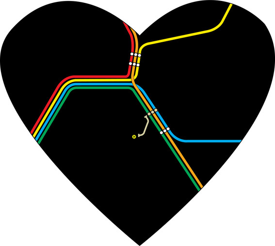 I HEART BART sticker