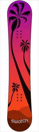 Swatch Palm Tree Snowboard
