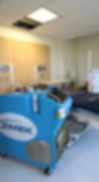 Zimek Micro-Mist System disinfects decontaminate a hospital room