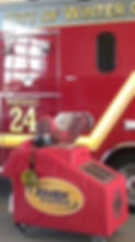 Zimek Micro Mist System disinfect decontaminate a fire rescue vehicle