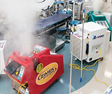 Zimek Micro Mist System disinfecting decontaminating an operating room