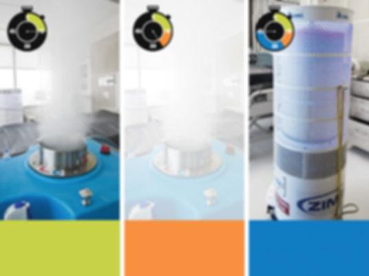 Zimek System Micro Mist Dwell and Z-vac Cycles