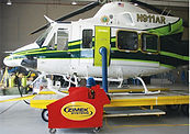 Zimek System disinfecting decontaminating helicopter