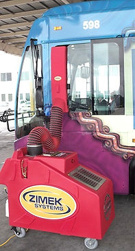 Zimek Micro-Mist System disinfect decontaminate a public bus