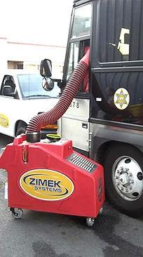 Zimek Micro Mist disinfect decontaminate a law enforcement vehicle