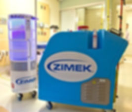 Zimek ROC Healthcare in hospital room
