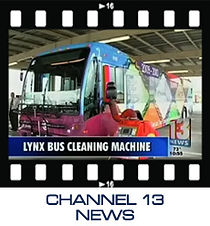 Channel 13 News about Zimek System disinfect and decontaminate Lynx Bus