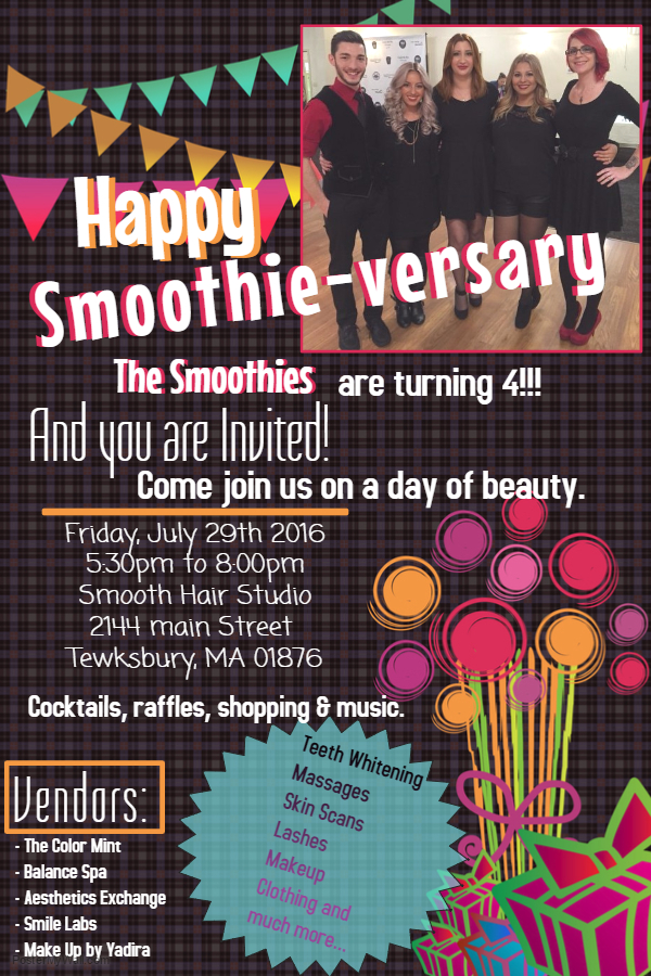 Smoothie-versary flyer