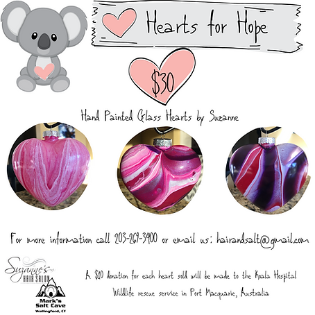 Hearts for Hope  Suzanne's Hair Salon  W