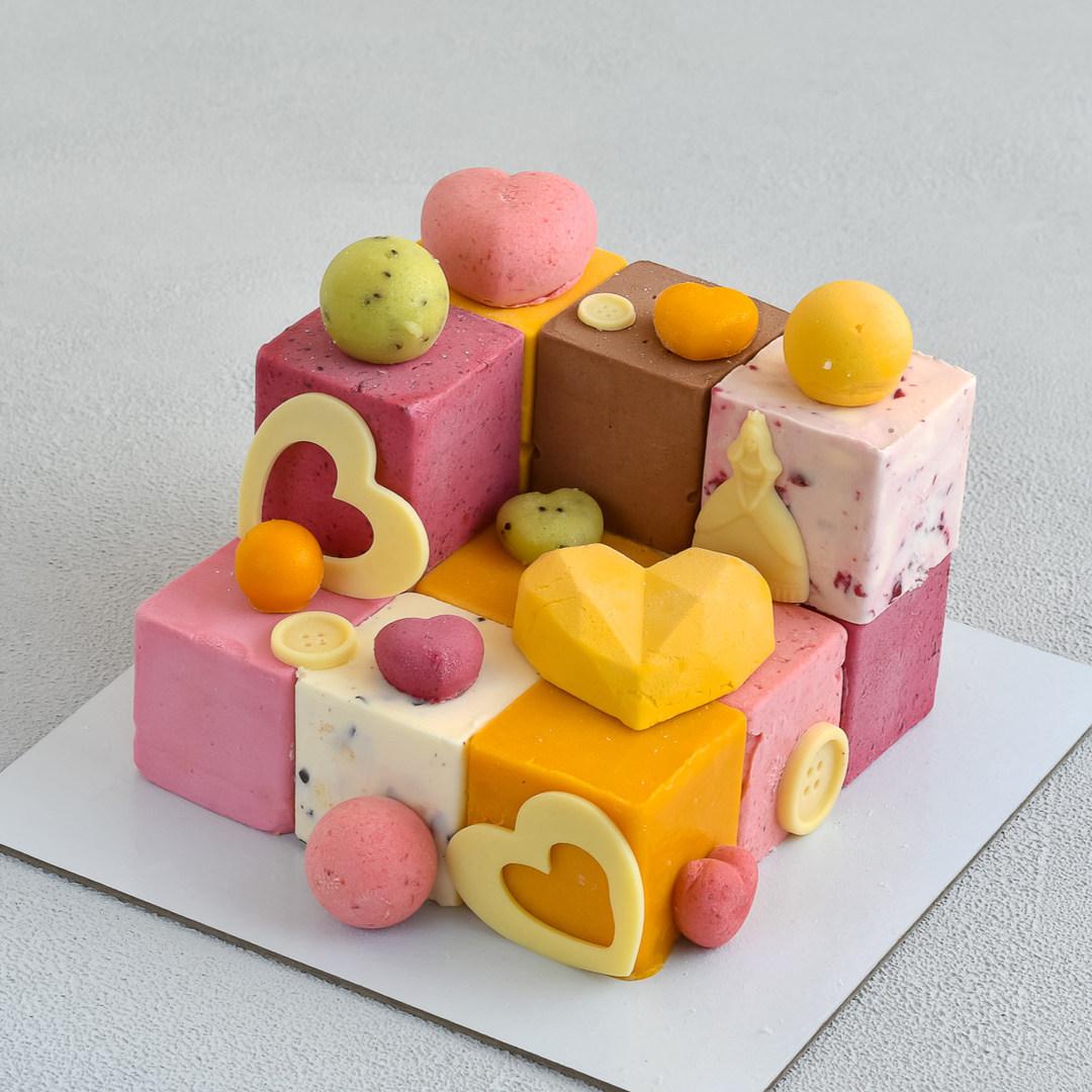 Торт-мороженое Кубики