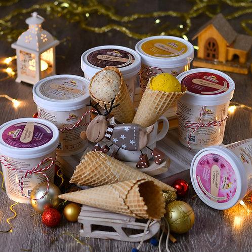 Набор мороженого и рожки в подарок