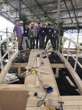 Cities4Forests Quito bridge Construction team