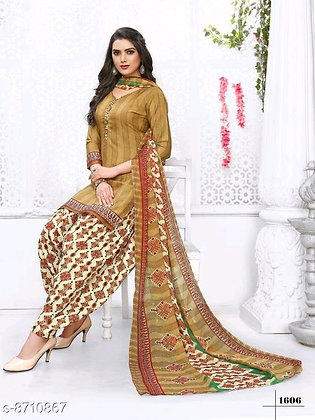 Unstitched Dress Material with Pants and Dupatta
