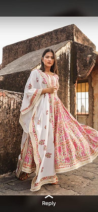 Premium Quality Cotton Anarkali Kurti Palazzo with Dupatta