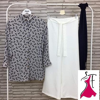 Flex Cotton Shirt and Palazzo