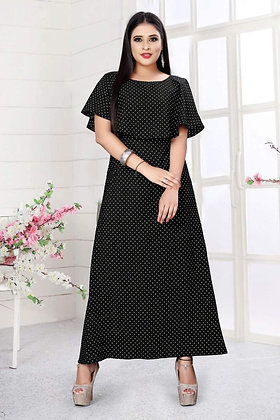 Ice Crepe Gown with Print