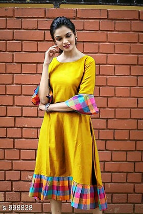 Trendy Designer Khadi Cotton Dress