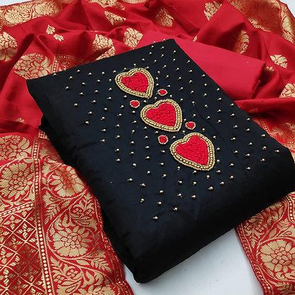 Chanderi Exclusive Dress Material Suit
