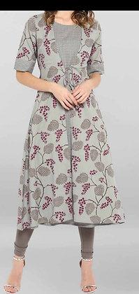 Cotton Flex Fabric with Shrug Style Long Kurti