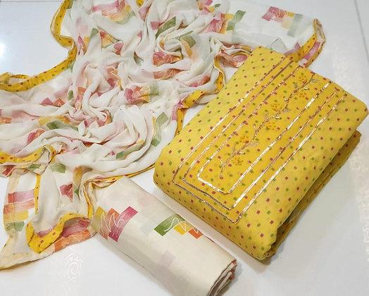 Khatli Dress Material Set