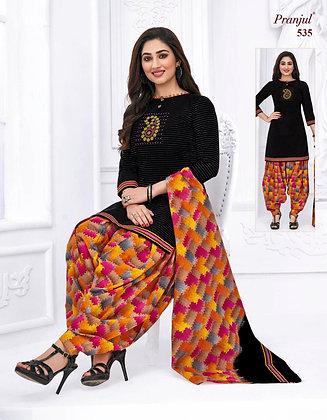 Cambric Cotton Patiala Dress With Dupatta