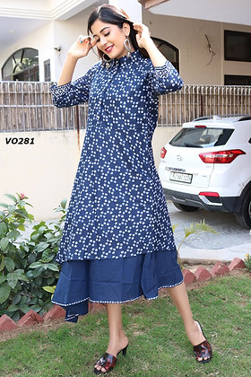 Cotton High-Low Frock