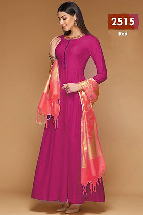 Bangalori Silk Designer Gown with Dupatta